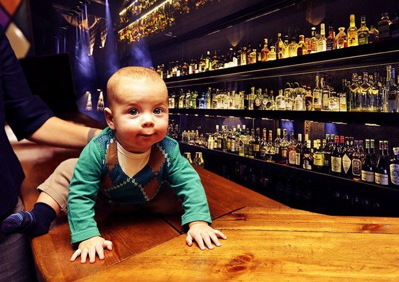 Eigene Bar und Familie