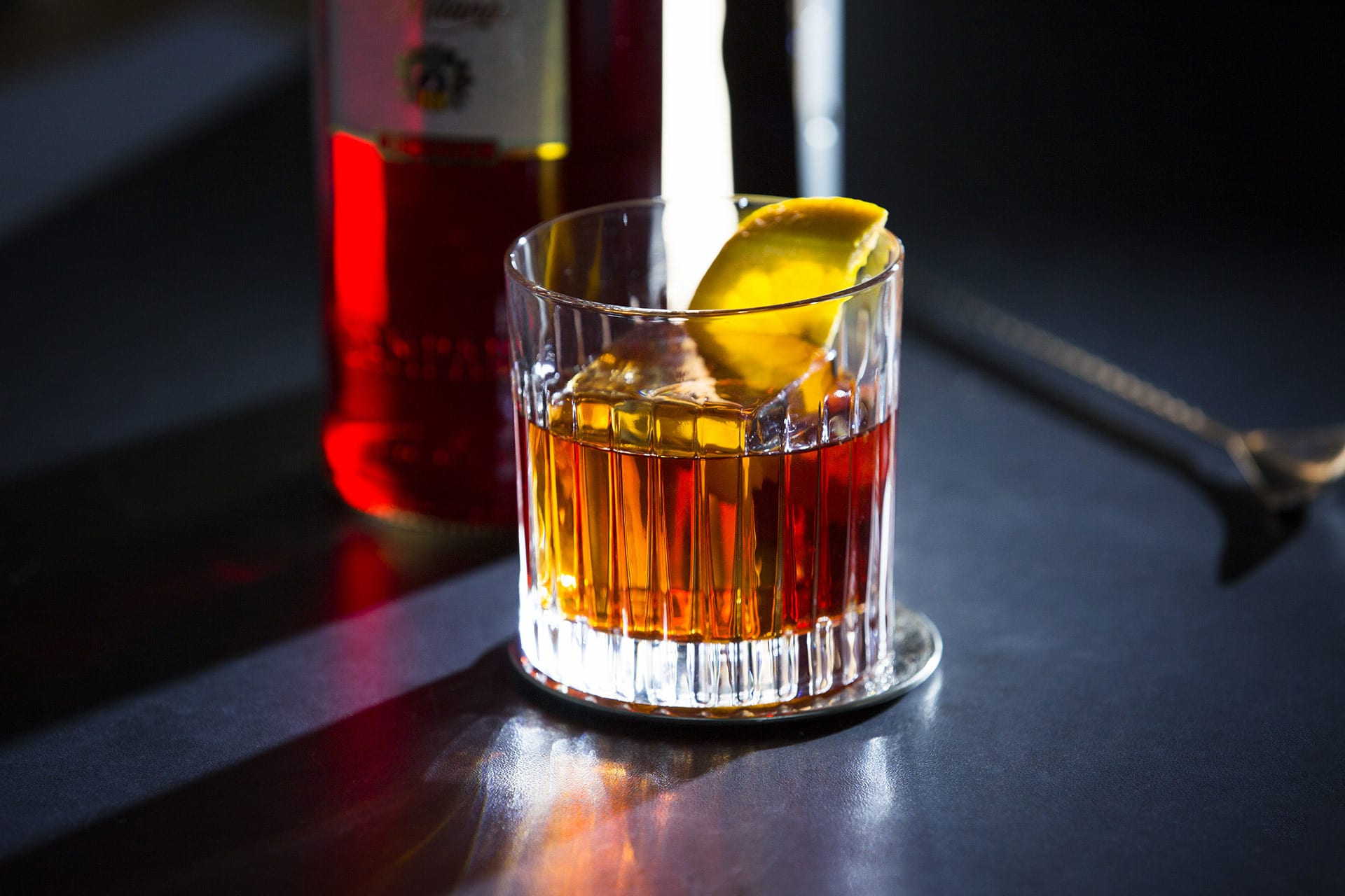 Campari Negroni the red heart